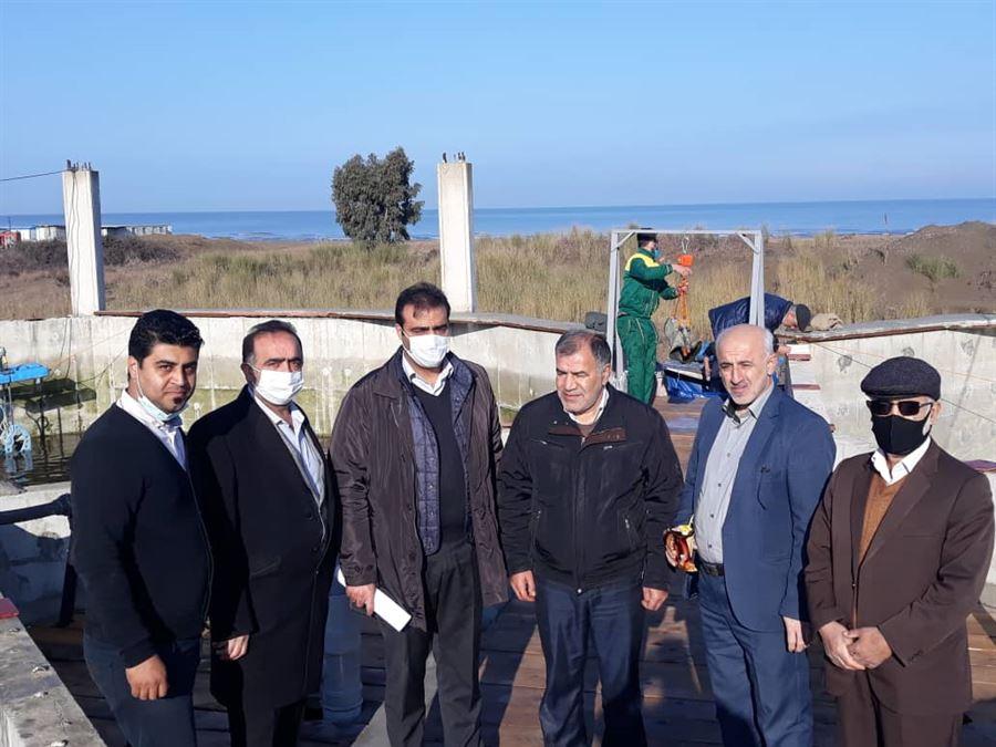 بازدید مدیرکل محترم شیلات استان مازندران